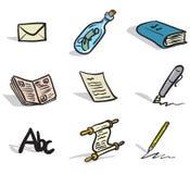 Ikonen der schriftlichen Mitteilung Lizenzfreie Stockfotos