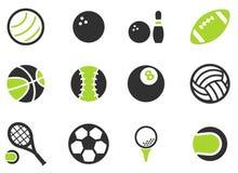 Ikonen der Sportbälle einfach Stockfotografie