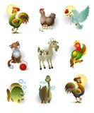 Ikonen der Tiere Stockfoto