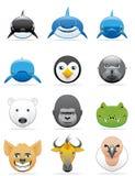 Ikonen der wilden Tiere Stockbild