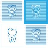 Ikonen der Zahn-Plakat-Stomatologie-3D stock abbildung