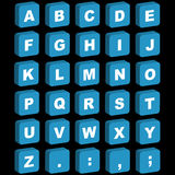 Ikonen des Alphabetes 3D - Versalien Stockbild