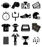Ikonen des amerikanischen Fußballs eingestellt Stockbild