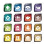 Ikonen des Chinesischen Neujahrsfests Stockbild