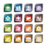 Ikonen des Chinesischen Neujahrsfests Stockbilder