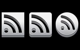 Ikonen des Chrom-RSS Lizenzfreies Stockfoto