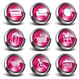 Ikonen des Einkaufen-3D Lizenzfreie Stockfotos