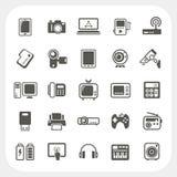 Ikonen des elektronischen Geräts eingestellt lizenzfreie abbildung