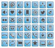 Ikonen des Geschäfts, der Finanzierung, des Netzes und des Marketings Stockfoto