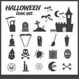Ikonen des Halloween-Themasatzes Lizenzfreie Stockfotografie