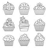 Ikonen des kleinen Kuchens vektor abbildung