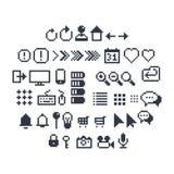 Ikonen des Pixel-UI Lizenzfreie Stockfotos