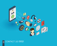 Ikonen des Stützintegrierte Netzes 3d Wachstums- und Fortschrittskonzept Lizenzfreies Stockbild