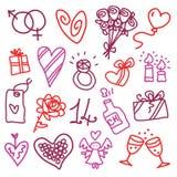 Ikonen des Valentinsgrußes Lizenzfreies Stockfoto