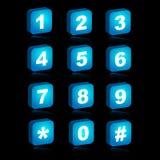 Ikonen des Webs 3D - Zahlen Stockbild