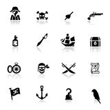 Ikonen eingestellte Piraten Stockbilder