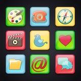 Ikonen für apps Stockbilder