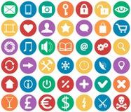 Ikonen für apps Stockbild