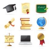 Ikonen für Ausbildung stock abbildung
