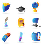 Ikonen für Ausbildung Stockbild