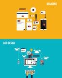Ikonen für das Einbrennen und Webdesign stock abbildung