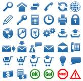 Ikonen für das Web site Internet. Stockbilder