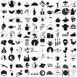 Ikonen für die Gastronomie Lizenzfreies Stockfoto