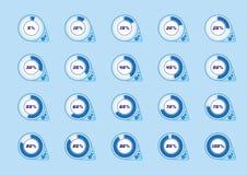Ikonen für Download Ð-¡ lockwork Design Auch im corel abgehobenen Betrag Stockfotografie