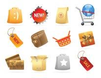 Ikonen für Einzelverkauf stock abbildung