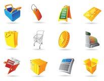Ikonen für Einzelverkauf lizenzfreie abbildung