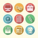 Ikonen für freiberuflich tätiges und Geschäft Lizenzfreies Stockfoto