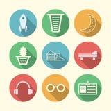 Ikonen für freiberuflich tätiges und Geschäft Stockbild