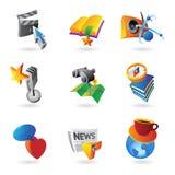 Ikonen für Freizeit Lizenzfreie Stockfotos