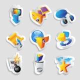 Ikonen für Freizeit Stockbilder