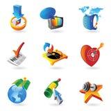 Ikonen für Freizeit Stockbild