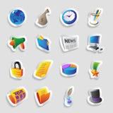 Ikonen für Geschäft Lizenzfreies Stockbild