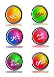 Ikonen für Geschäft Lizenzfreie Stockfotos