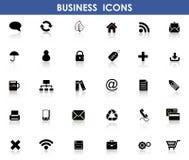 Ikonen für Geschäft Stockfoto