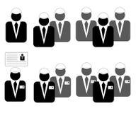 Ikonen für Geschäft, Management, Technik, Diplom-Ingenieur Lizenzfreie Stockfotografie
