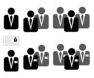 Ikonen für Geschäft, Management, Technik, Diplom-Ingenieur Stockfotos