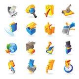 Ikonen für Geschäft und Finanzierung Lizenzfreies Stockfoto