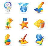 Ikonen für Geschäft und Finanzierung Stockbilder