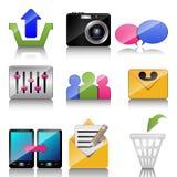 Ikonen für Handy Lizenzfreie Stockbilder
