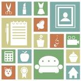 Ikonen für Haus Lizenzfreies Stockfoto