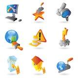 Ikonen für Industrie Stockbilder