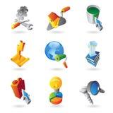 Ikonen für Industrie Stockbild