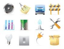 Ikonen für Industrie Stockfotos