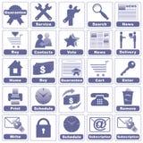 Ikonen für Internet und Web site. Lizenzfreie Stockfotografie