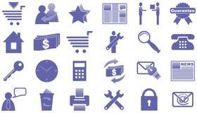 Ikonen für Internet und Web site. Lizenzfreie Stockbilder