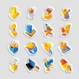 Ikonen für Kleinhandel Stockbilder